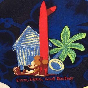 Disney Shirts - WDW Tiki floral short sleeve blue Hawaiian shirt